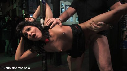 Photo number 10 from Beautiful brunnette, Jade Indica, is bound and fucked in a crowded bar shot for Public Disgrace on Kink.com. Featuring Miss Jade Indica and Mark Davis in hardcore BDSM & Fetish porn.