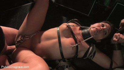Photo number 14 from Beautiful brunnette, Jade Indica, is bound and fucked in a crowded bar shot for Public Disgrace on Kink.com. Featuring Miss Jade Indica and Mark Davis in hardcore BDSM & Fetish porn.