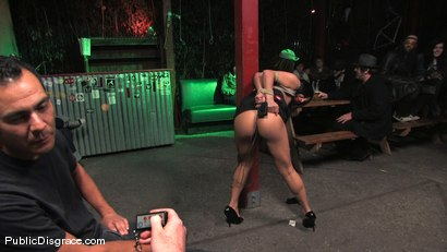 Photo number 2 from Beautiful brunnette, Jade Indica, is bound and fucked in a crowded bar shot for Public Disgrace on Kink.com. Featuring Miss Jade Indica and Mark Davis in hardcore BDSM & Fetish porn.