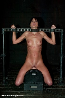 "Photo number 11 from ""The French Connection"" -<br><br>-Countdown to Relaunch - 4 of 20 shot for Device Bondage on Kink.com. Featuring Cecilia Vega in hardcore BDSM & Fetish porn."