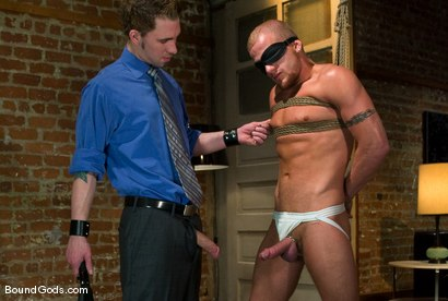 Photo number 4 from The Bondage Toy shot for Bound Gods on Kink.com. Featuring James Hamilton and Luke Riley in hardcore BDSM & Fetish porn.