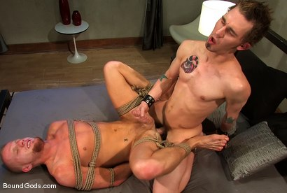 Photo number 13 from The Bondage Toy shot for Bound Gods on Kink.com. Featuring James Hamilton and Luke Riley in hardcore BDSM & Fetish porn.