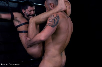 Photo number 13 from Ride the Horse Cock shot for Bound Gods on Kink.com. Featuring Dominic Pacifico and CJ Madison in hardcore BDSM & Fetish porn.