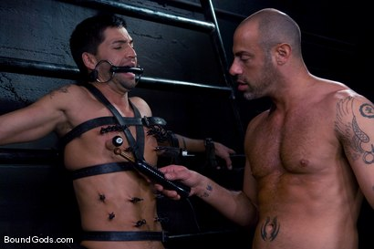 Photo number 10 from Ride the Horse Cock shot for Bound Gods on Kink.com. Featuring Dominic Pacifico and CJ Madison in hardcore BDSM & Fetish porn.