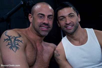 Photo number 15 from Ride the Horse Cock shot for Bound Gods on Kink.com. Featuring Dominic Pacifico and CJ Madison in hardcore BDSM & Fetish porn.