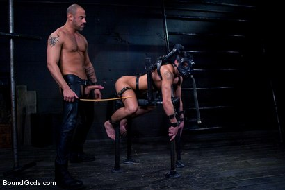 Photo number 5 from Ride the Horse Cock shot for Bound Gods on Kink.com. Featuring Dominic Pacifico and CJ Madison in hardcore BDSM & Fetish porn.