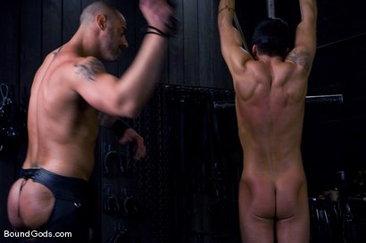 Photo number 3 from Ride the Horse Cock shot for Bound Gods on Kink.com. Featuring Dominic Pacifico and CJ Madison in hardcore BDSM & Fetish porn.