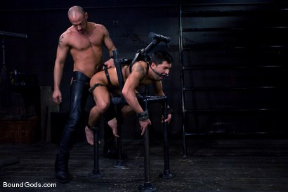 Photo number 8 from Ride the Horse Cock shot for Bound Gods on Kink.com. Featuring Dominic Pacifico and CJ Madison in hardcore BDSM & Fetish porn.