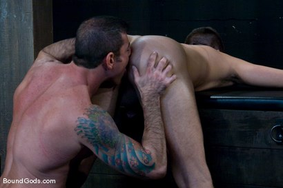 Photo number 11 from Flogs for Fuck shot for Bound Gods on Kink.com. Featuring Nick Moretti, Van Darkholme and Derrek Diamond in hardcore BDSM & Fetish porn.