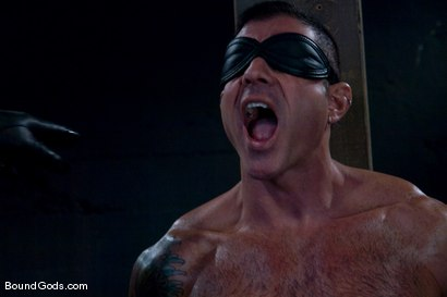 Photo number 2 from Flogs for Fuck shot for Bound Gods on Kink.com. Featuring Nick Moretti, Van Darkholme and Derrek Diamond in hardcore BDSM & Fetish porn.