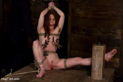 Photo number 7 from Hot Blooded Readhead Rita in for her first HT fucking! shot for Hogtied on Kink.com. Featuring Rita Seagrave in hardcore BDSM & Fetish porn.