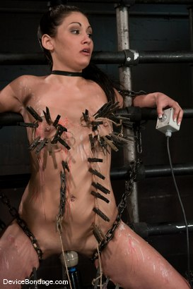 Photo number 13 from Jade Indica <br> Oiled, fucked, bound and tortured.<br>Countdown to Relaunch - 5 of 20 shot for Device Bondage on Kink.com. Featuring Miss Jade Indica in hardcore BDSM & Fetish porn.