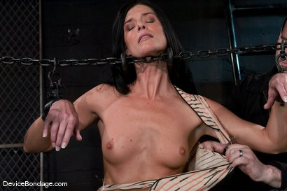 Photo number 3 from Two in a cage is worth more<br>than one with a shaved bush. <br>-Countdown to Relaunch - 6 of 20 shot for Device Bondage on Kink.com. Featuring India Summer and Brooke Lee Adams in hardcore BDSM & Fetish porn.