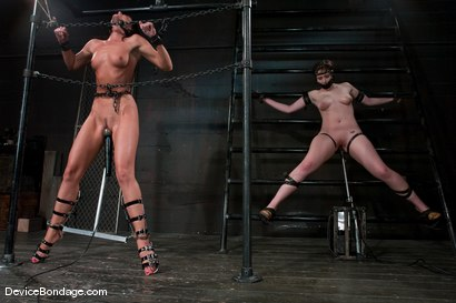 Photo number 6 from Two in a cage is worth more<br>than one with a shaved bush. <br>-Countdown to Relaunch - 6 of 20 shot for Device Bondage on Kink.com. Featuring India Summer and Brooke Lee Adams in hardcore BDSM & Fetish porn.