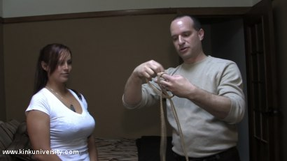 Photo number 11 from Lochai Demonstrates 2 Easy Ties You Can Learn in Minutes shot for Kink University on Kink.com. Featuring Lochai and Bella Rossi in hardcore BDSM & Fetish porn.