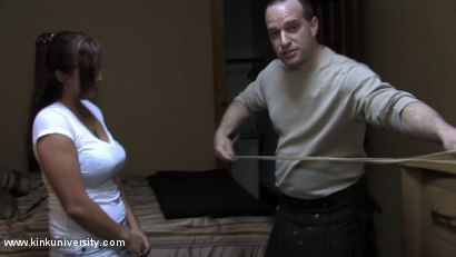 Photo number 14 from Lochai Demonstrates 2 Easy Ties You Can Learn in Minutes shot for Kink University on Kink.com. Featuring Lochai and Bella Rossi in hardcore BDSM & Fetish porn.