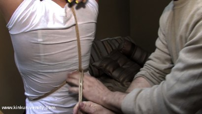 Photo number 5 from Lochai Demonstrates 2 Easy Ties You Can Learn in Minutes shot for Kink University on Kink.com. Featuring Lochai and Bella Rossi in hardcore BDSM & Fetish porn.