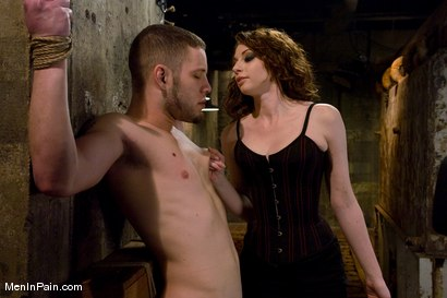 Photo number 2 from Gorgeous Red Headed Dominatrix shot for Men In Pain on Kink.com. Featuring Amber Keen and Wolf Hudson in hardcore BDSM & Fetish porn.