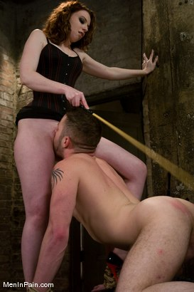 Photo number 9 from Gorgeous Red Headed Dominatrix shot for Men In Pain on Kink.com. Featuring Amber Keen and Wolf Hudson in hardcore BDSM & Fetish porn.