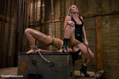 Photo number 5 from The Virgin shot for Wired Pussy on Kink.com. Featuring Harmony and Rebecca Blue in hardcore BDSM & Fetish porn.