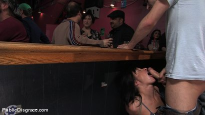 Photo number 1 from Cecilia Vega is bound, fucked and used by a bar full of strangers shot for Public Disgrace on Kink.com. Featuring James Deen and Cecilia Vega in hardcore BDSM & Fetish porn.