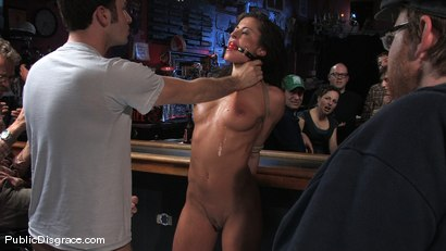 Photo number 6 from Cecilia Vega is bound, fucked and used by a bar full of strangers shot for Public Disgrace on Kink.com. Featuring James Deen and Cecilia Vega in hardcore BDSM & Fetish porn.