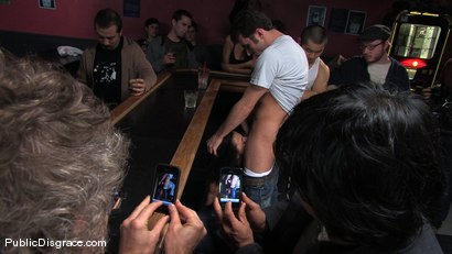 Photo number 2 from Cecilia Vega is bound, fucked and used by a bar full of strangers shot for Public Disgrace on Kink.com. Featuring James Deen and Cecilia Vega in hardcore BDSM & Fetish porn.