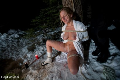 Photo number 14 from Tahoe: Exiled from Dick Mountain pt 4: Busy day out doors shot for Hogtied on Kink.com. Featuring Kristine, Dia Zerva, Amber Keen and Nina in hardcore BDSM & Fetish porn.