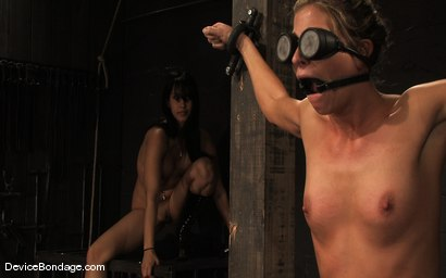 Photo number 10 from Ariel X, Annie Cruz -<br><br>-Countdown to Relaunch - 7 of 20 shot for Device Bondage on Kink.com. Featuring Ariel X, Annie Cruz and Isis Love in hardcore BDSM & Fetish porn.
