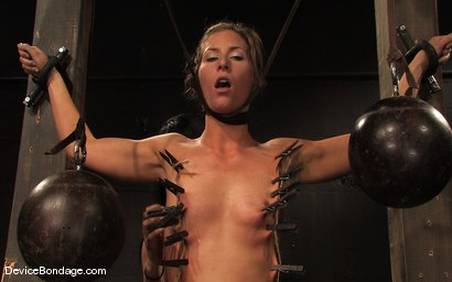 Photo number 14 from Ariel X, Annie Cruz -<br><br>-Countdown to Relaunch - 7 of 20 shot for Device Bondage on Kink.com. Featuring Ariel X, Annie Cruz and Isis Love in hardcore BDSM & Fetish porn.