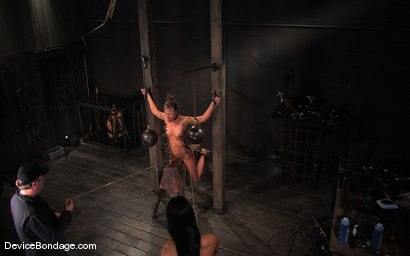 Photo number 15 from Ariel X, Annie Cruz -<br><br>-Countdown to Relaunch - 7 of 20 shot for Device Bondage on Kink.com. Featuring Ariel X, Annie Cruz and Isis Love in hardcore BDSM & Fetish porn.
