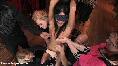 Photo number 3 from Piece of Cake shot for Public Disgrace on Kink.com. Featuring India Summer and James Deen in hardcore BDSM & Fetish porn.
