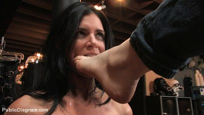 Photo number 6 from Piece of Cake shot for Public Disgrace on Kink.com. Featuring India Summer and James Deen in hardcore BDSM & Fetish porn.
