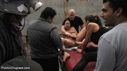 Photo number 11 from Julie Night - Fisted and Fucked in the Junkyard shot for Public Disgrace on Kink.com. Featuring Julie Night and Mark Davis in hardcore BDSM & Fetish porn.