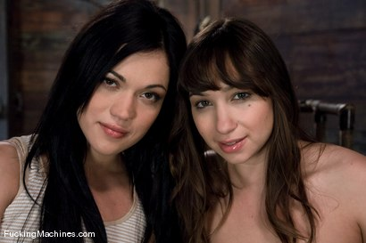 Photo number 1 from The Horny leading the Horny <br> Louisa Lanewood and Alyssa Reece shot for Fucking Machines on Kink.com. Featuring Louisa Lanewood and Alyssa Reece in hardcore BDSM & Fetish porn.