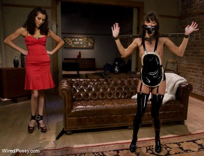 Photo number 4 from Naughty French maid Cecilia Vega is punished and strap-on fucked. shot for Wired Pussy on Kink.com. Featuring Cecilia Vega and Princess Donna Dolore in hardcore BDSM & Fetish porn.