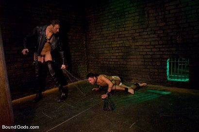 Photo number 2 from Slick It Up Spencer! shot for Bound Gods on Kink.com. Featuring Spencer Reed and Dominic Pacifico in hardcore BDSM & Fetish porn.