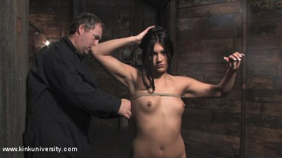 Photo number 11 from 2 Basic Breast Ties with Matt Williams shot for Kink University on Kink.com. Featuring Bella Rossi and Miss Jade Indica in hardcore BDSM & Fetish porn.