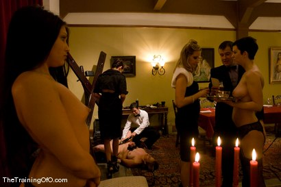 Photo number 7 from <p><b>Classic Shoot</b><br>The First Supper, Part One shot for The Upper Floor on Kink.com. Featuring Maestro, Satine Phoenix, Cherry Torn, Bella Rossi, Lobo, Lilla Katt, Peter, Princess Donna Dolore, Tomcat, Van Darkholme, Matt Williams, Maitresse Madeline Marlowe , James, Mister Torn, Nina No, Laura Antoniou and Miss Jade Indica in hardcore BDSM & Fetish porn.