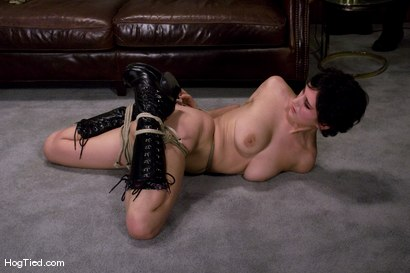 Photo number 6 from Casting Couch 7: 19 year old Sarah tied & made to come with a vibrator for the first time! shot for Hogtied on Kink.com. Featuring Sarah in hardcore BDSM & Fetish porn.