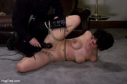 Photo number 9 from Casting Couch 7: 19 year old Sarah tied & made to come with a vibrator for the first time! shot for Hogtied on Kink.com. Featuring Sarah in hardcore BDSM & Fetish porn.