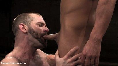 Photo number 13 from Brock Armstrong vs Tober Brandt shot for Naked Kombat on Kink.com. Featuring Brock Armstrong and Tober Brandt in hardcore BDSM & Fetish porn.