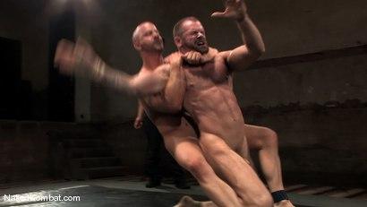 Photo number 11 from Brock Armstrong vs Tober Brandt shot for Naked Kombat on Kink.com. Featuring Brock Armstrong and Tober Brandt in hardcore BDSM & Fetish porn.