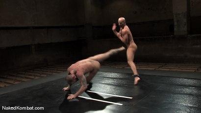 Photo number 8 from Brock Armstrong vs Tober Brandt shot for Naked Kombat on Kink.com. Featuring Brock Armstrong and Tober Brandt in hardcore BDSM & Fetish porn.