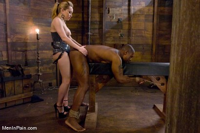Photo number 6 from Miss Starr Dominates Big Boy's Black Ass shot for Men In Pain on Kink.com. Featuring Jack Hammer and Aiden Starr in hardcore BDSM & Fetish porn.