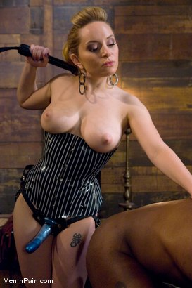 Photo number 1 from Miss Starr Dominates Big Boy's Black Ass shot for Men In Pain on Kink.com. Featuring Jack Hammer and Aiden Starr in hardcore BDSM & Fetish porn.