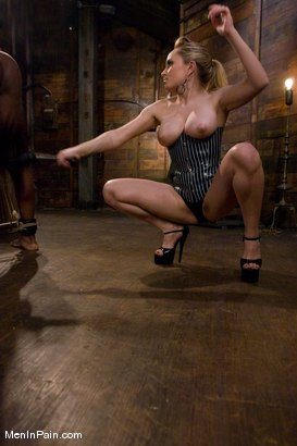 Photo number 2 from Miss Starr Dominates Big Boy's Black Ass shot for Men In Pain on Kink.com. Featuring Jack Hammer and Aiden Starr in hardcore BDSM & Fetish porn.