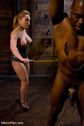 Photo number 3 from Miss Starr Dominates Big Boy's Black Ass shot for Men In Pain on Kink.com. Featuring Jack Hammer and Aiden Starr in hardcore BDSM & Fetish porn.