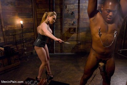 Photo number 4 from Miss Starr Dominates Big Boy's Black Ass shot for Men In Pain on Kink.com. Featuring Jack Hammer and Aiden Starr in hardcore BDSM & Fetish porn.