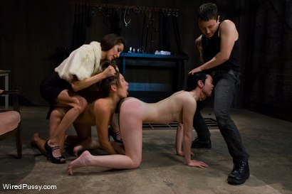 Photo number 3 from COLLECTION PART 2: Jiz Lee shot for Wired Pussy on Kink.com. Featuring Syd Blakovich, Jiz Lee, Vai and Princess Donna Dolore in hardcore BDSM & Fetish porn.